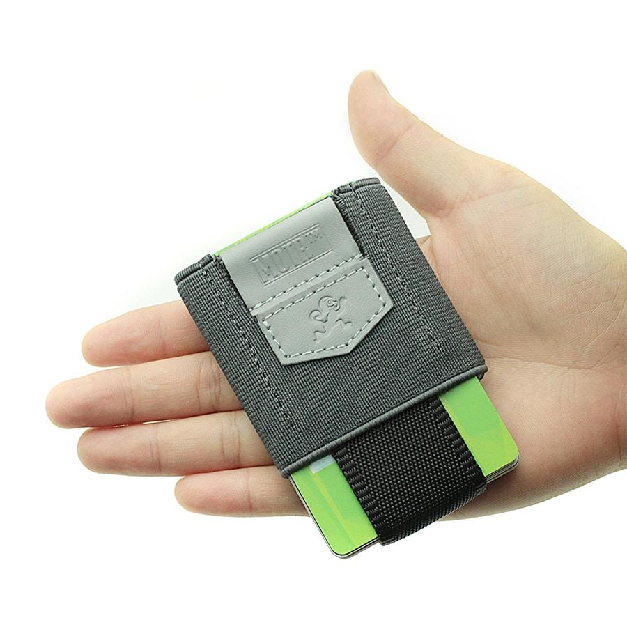 Vysouvací peněženka šedá