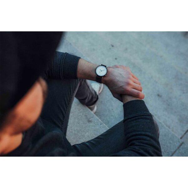 Pánské hodinky s koženým řemínkem pro muže George