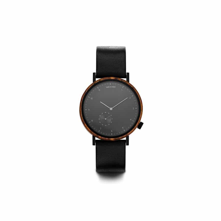 Pánské hodinky s koženým řemínkem TAS James 2.0