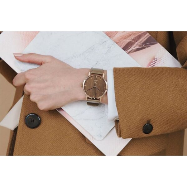 Dámské dřevěné hodinky Bewooden Rose Watch