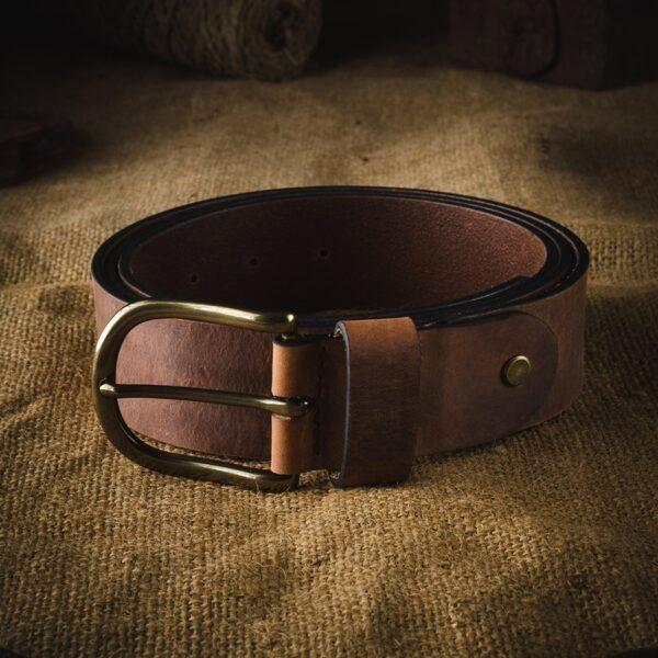Pánský kožený pásek v.12 Crazy Horse Craft