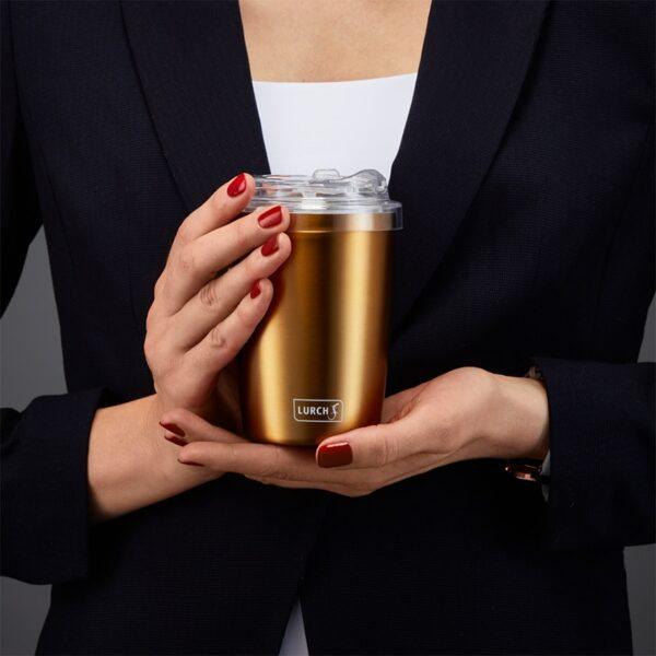 gold Nerezový termohrnek na kávu Lurch 300/400 ml